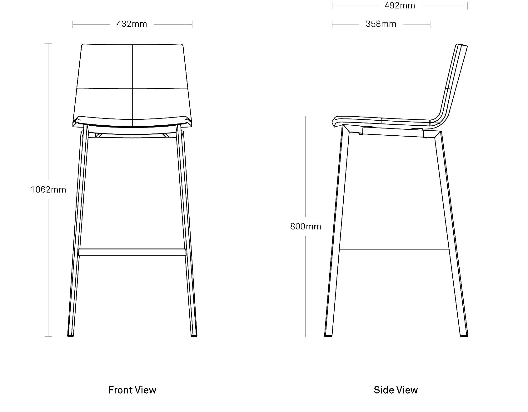 Between Us Barstool Modern Barstool Chair Blu Dot