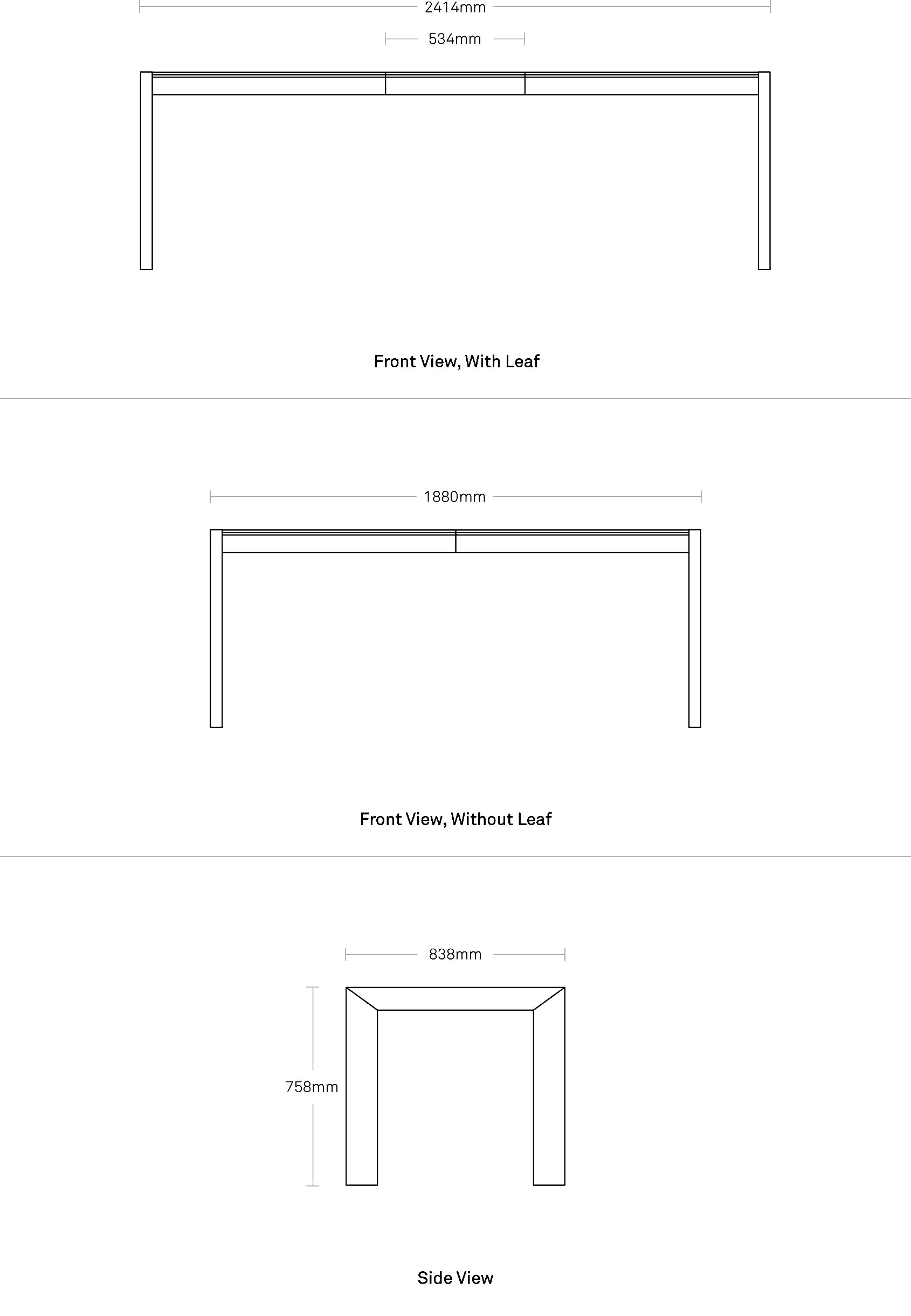 Second Best 95 Quot Wood Dining Table Modern Dining And