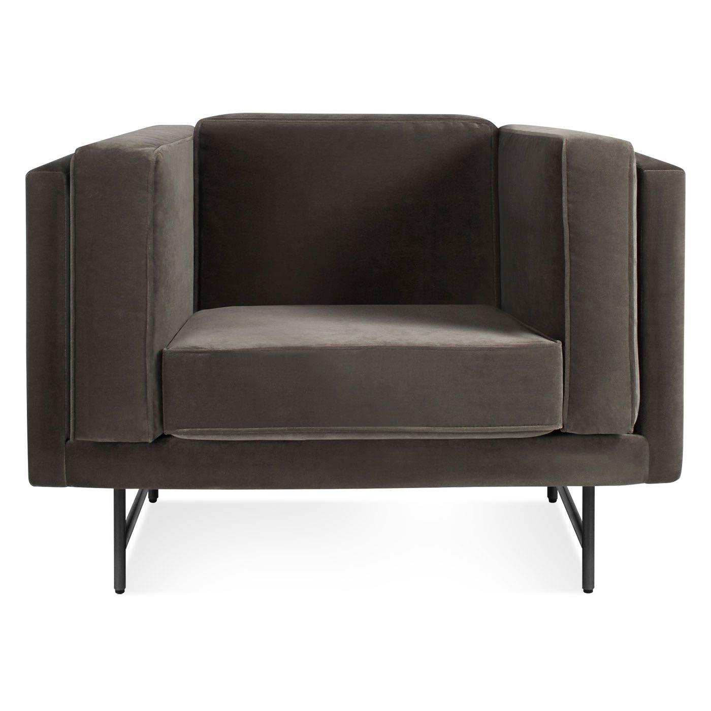 Bank Modern Mink Velvet Lounge Chair - Modern Chairs - Blu Dot