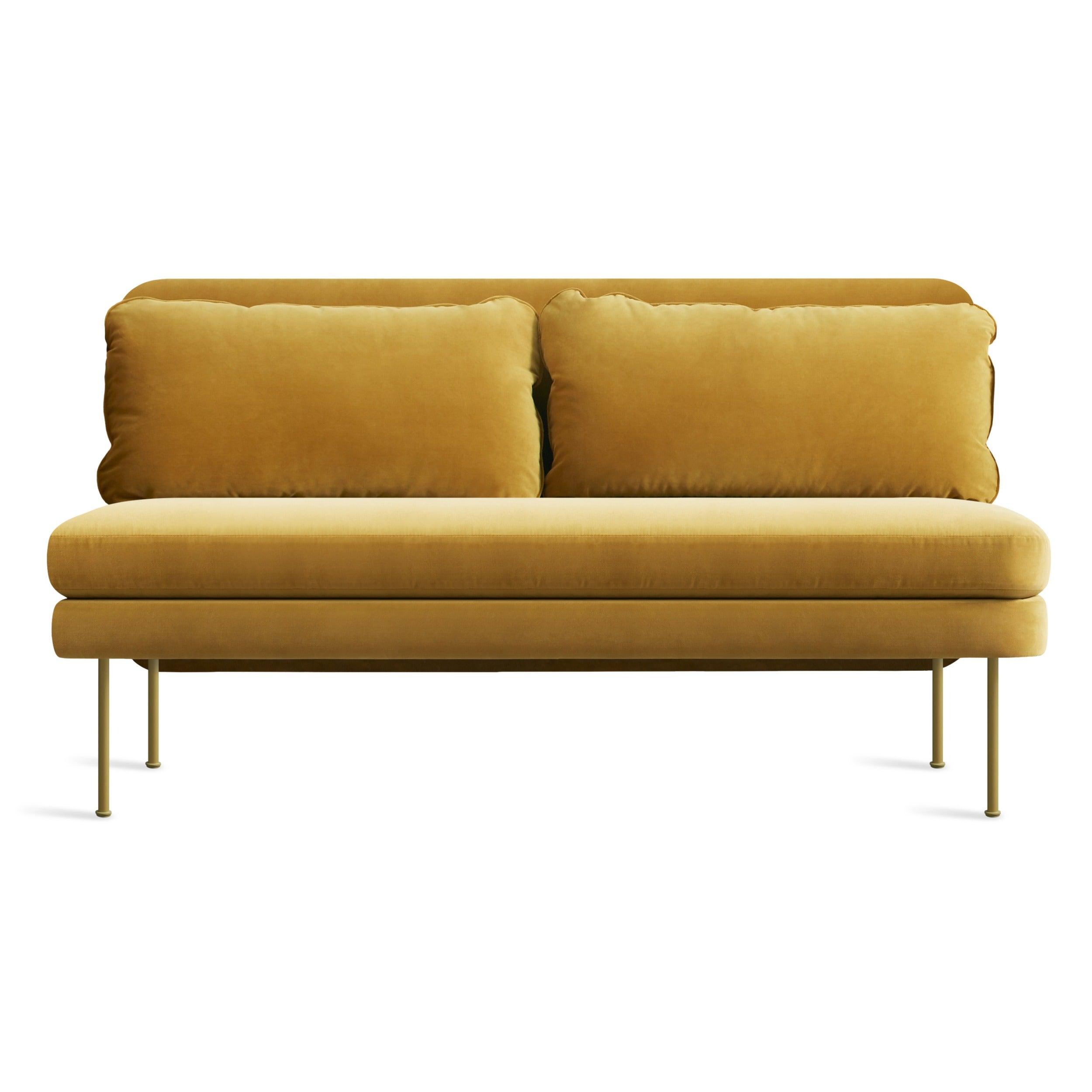 """Bloke 60"""" Armless Velvet Sofa"""