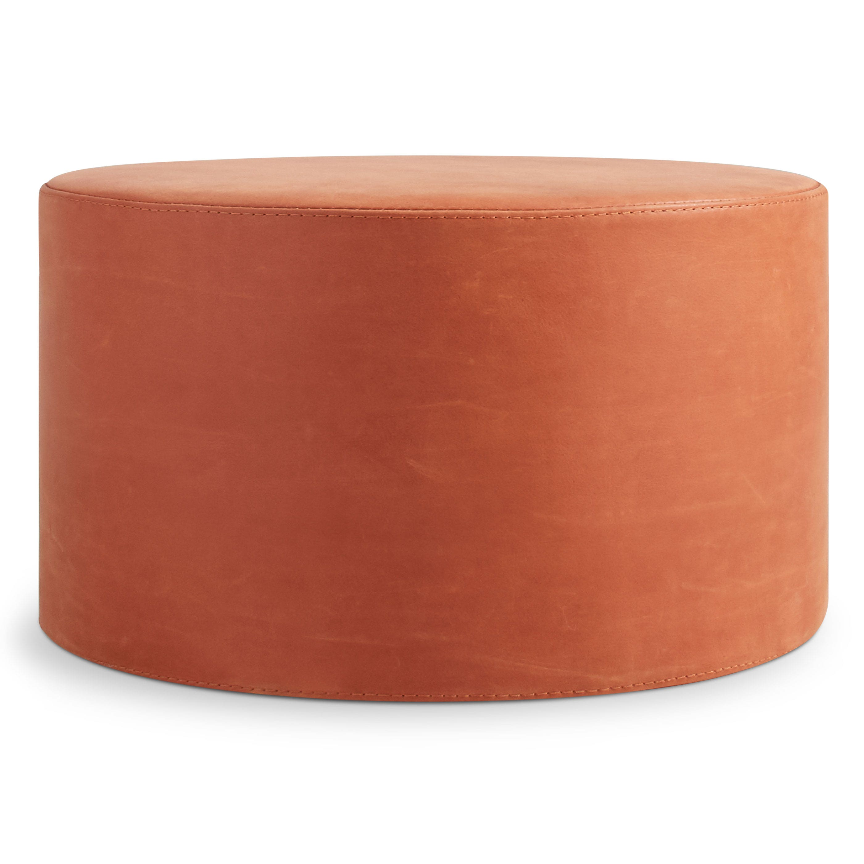 Rolling Ottoman Coffee Table.Bumper Large Leather Ottoman