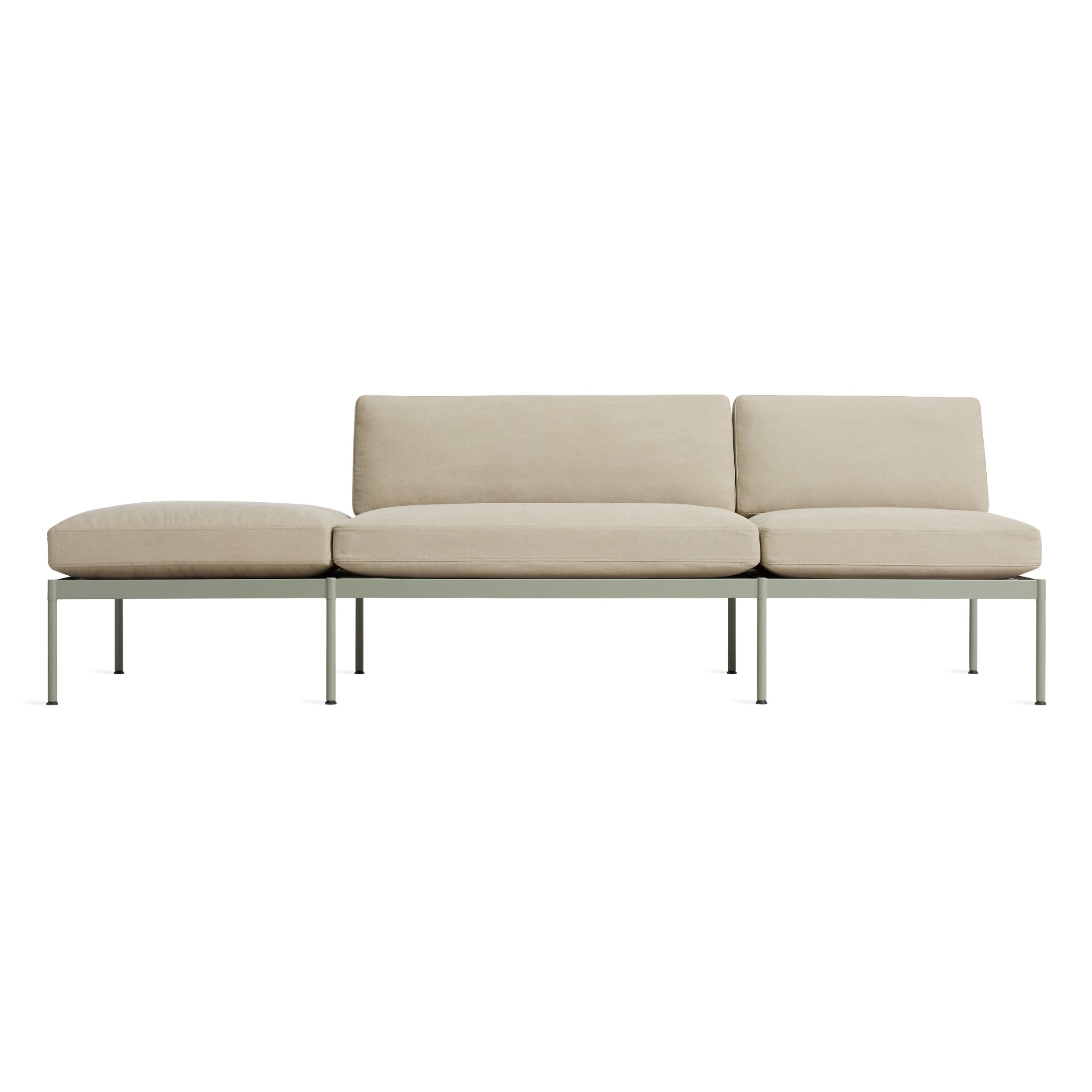"Chassis 104"" Right/Left Sofa with Cushion"
