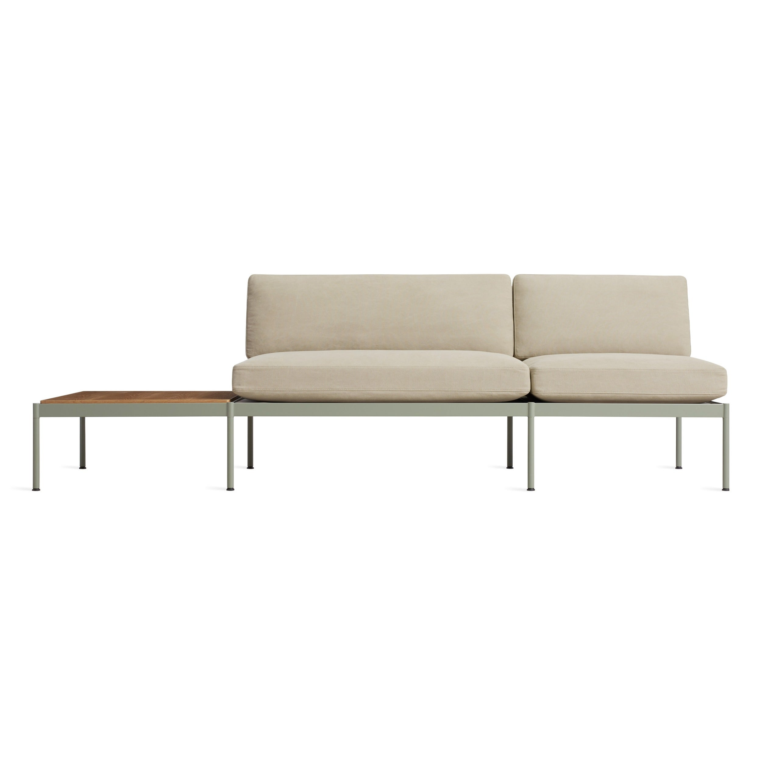 "Chassis 104"" Right/Left Sofa with Table"