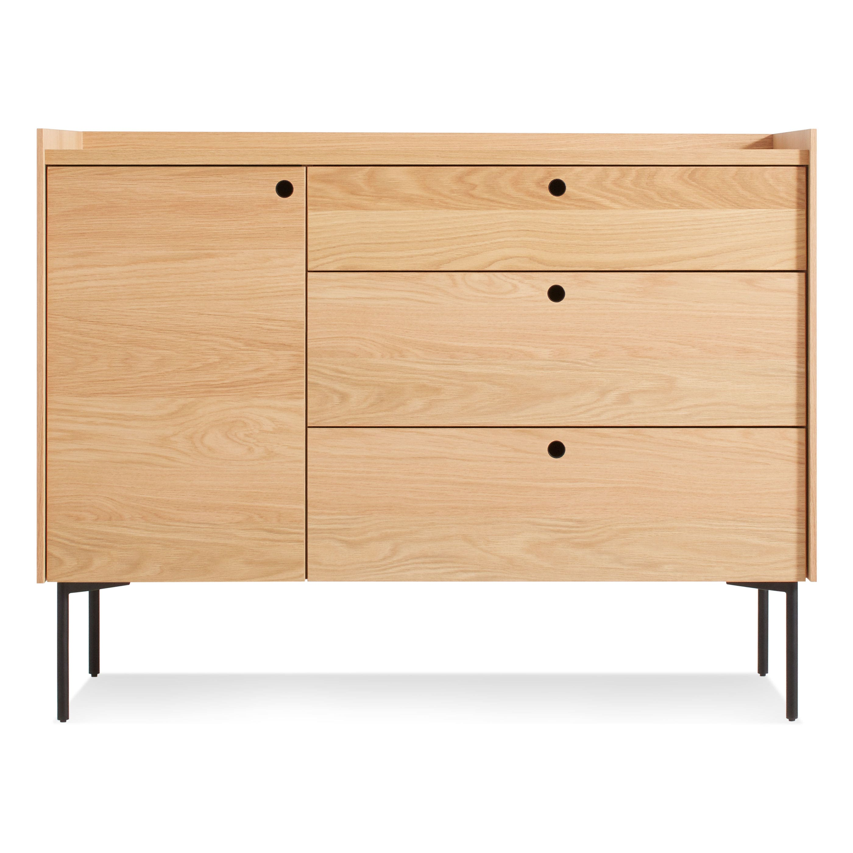 Peek 1 Door / 3 Drawer Credenza   Modern Dressers And Bedroom Storage | Blu  Dot