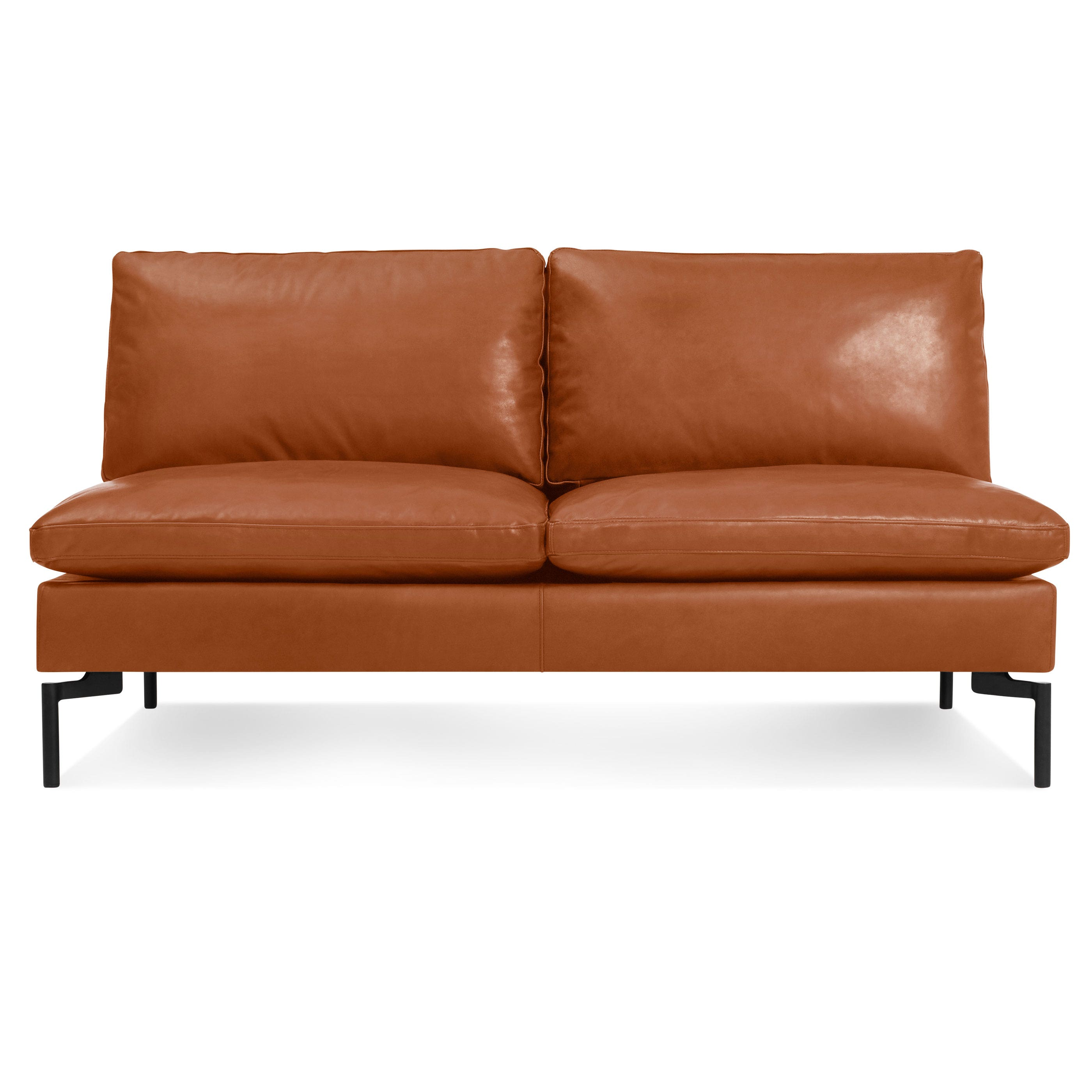 New Standard Armless Leather Sofa Modern Sofas And Sectionals Bludot