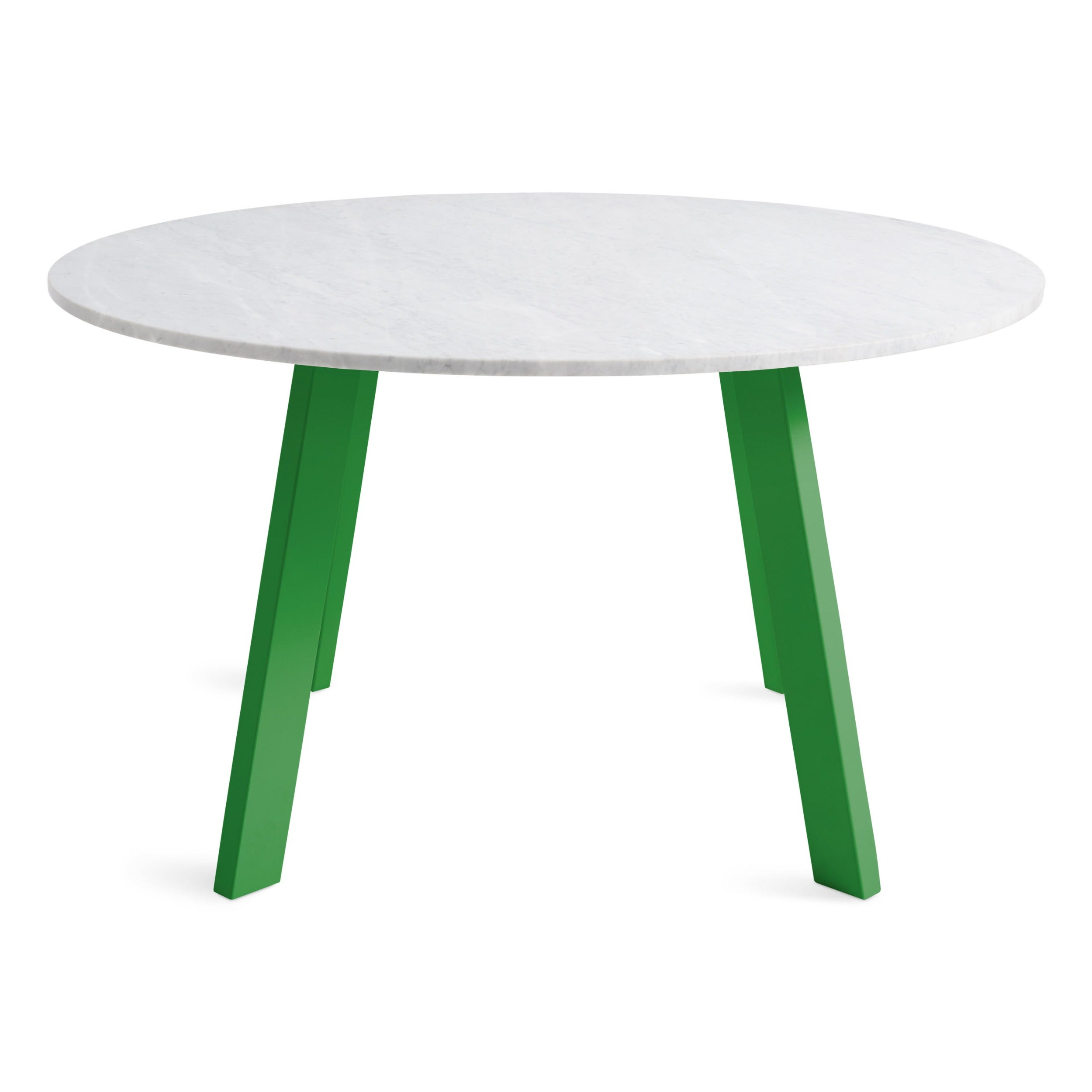 52 Round Table.Right Round 52 Marble Dining Table