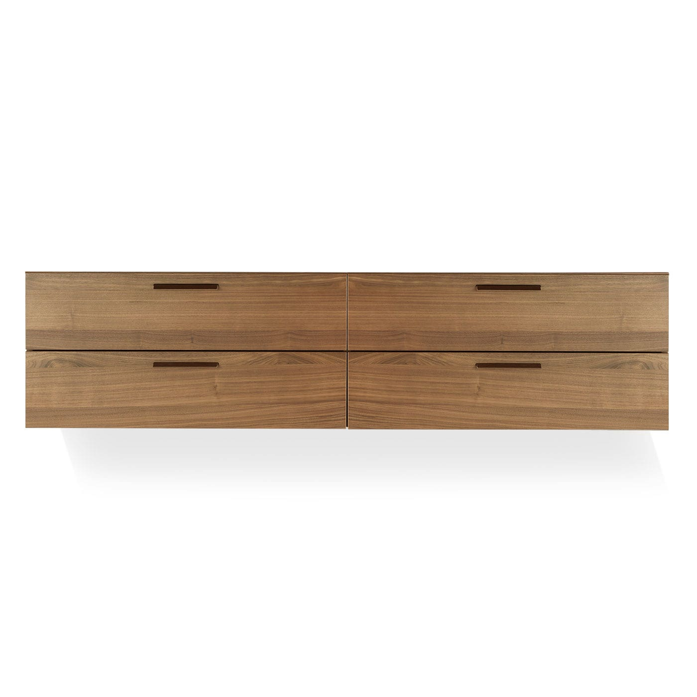 Charmant Walnut. Shale 4 Drawer Wall Mounted Cabinet
