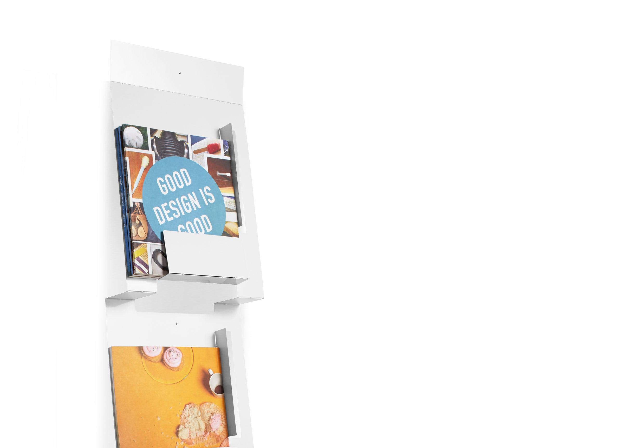 2D:3D Wall Magazine Rack