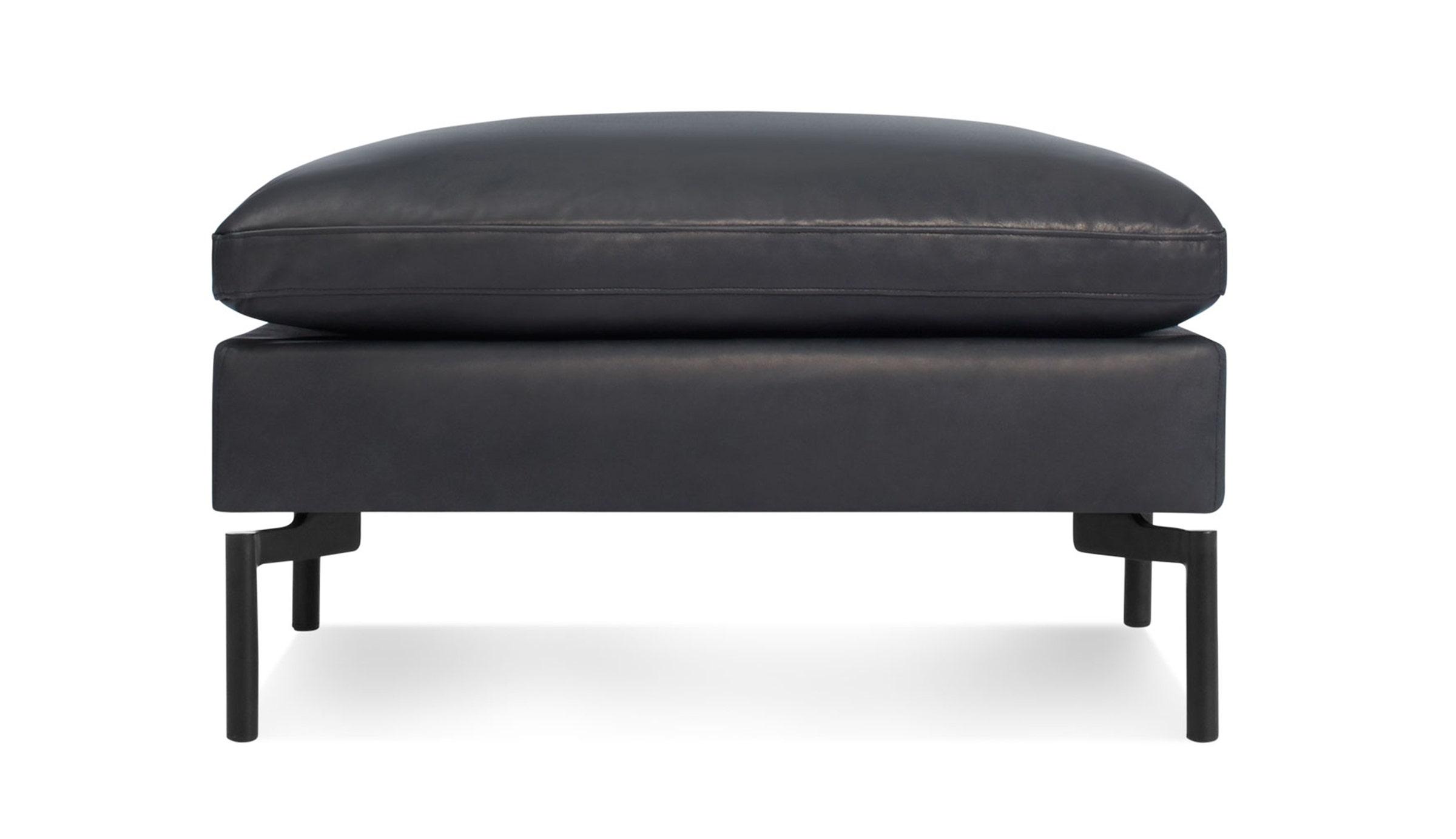 New Standard Leather Ottoman
