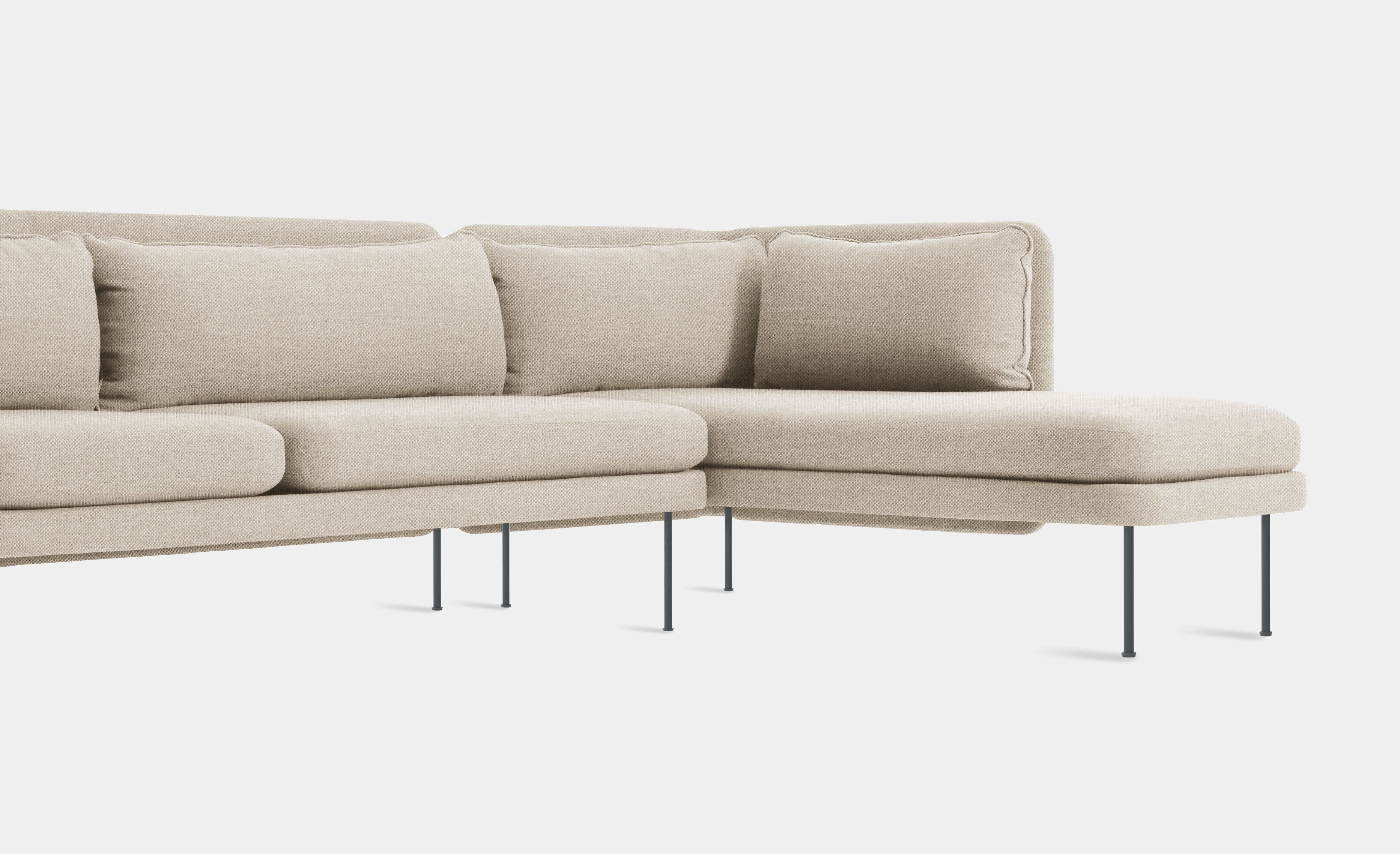 Bloke Sofa with Chaise by Blu Dot