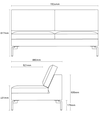 Standard Sofa Dimensions Metric Hereo Sofa